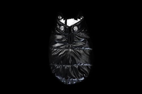 Black Metallic Winter Coat Back