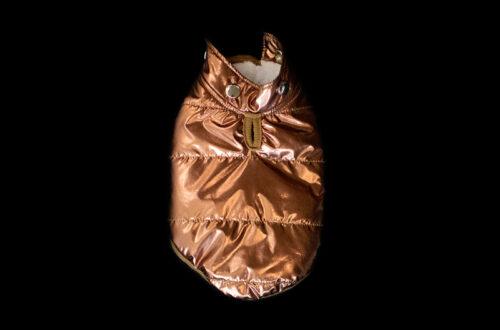 copper dog puffer coat