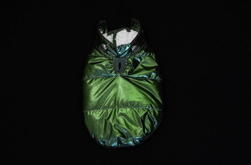 Hunter Green Metallic Winter Coat