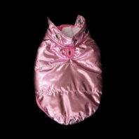 Pink Metallic Winter Dog Coat