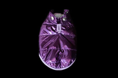 Purple Metallic Winter Coat