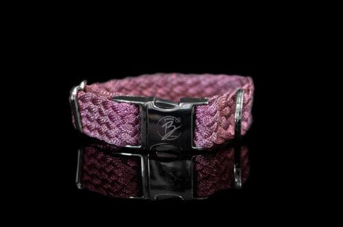 Pink Metallic Braided Collar
