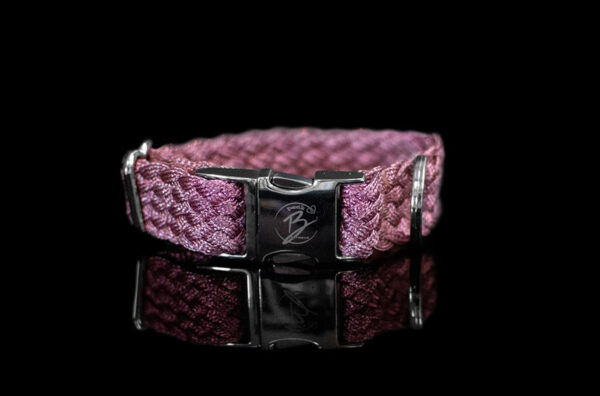 Pink Metallic Braided Collar