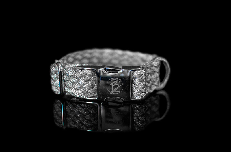 Silver Metallic Braided Collar
