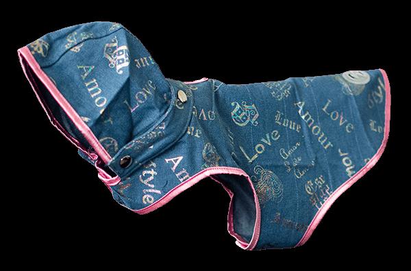 Faded Denim Dog Coat