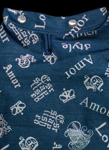 Blue Denim Dog Coat Detail