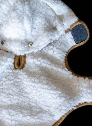 fleece dog coat detail
