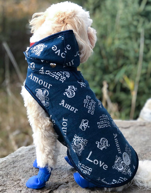 dog jacket denim
