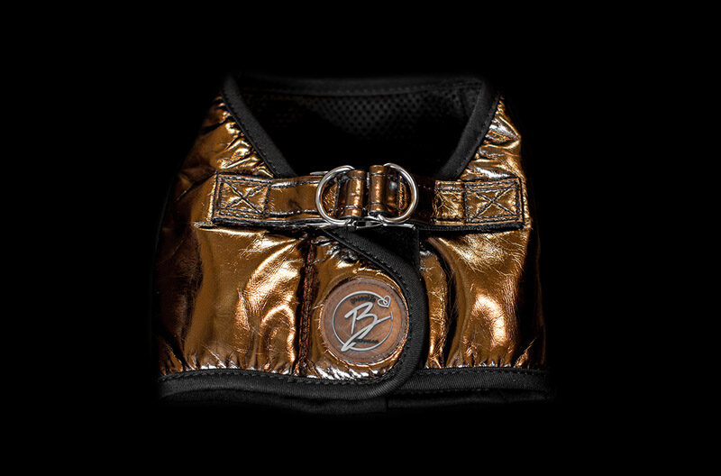 Copper Faux Leather Harness