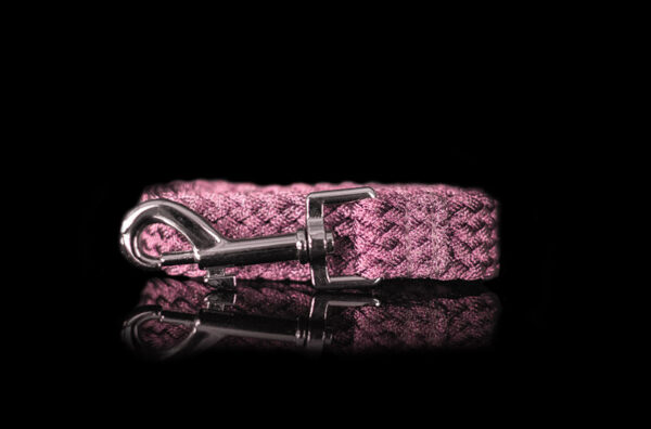Pink Metallic Braided Leash