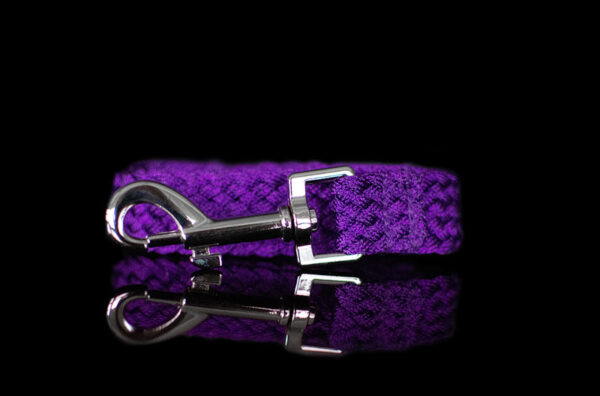 Purple Metallic Braided Leash