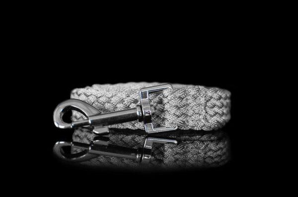 Silver Metallic Braided Leash