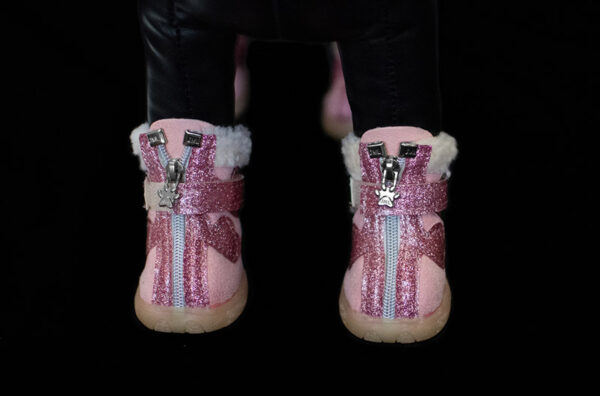Pink Fur Lined Winter Booties
