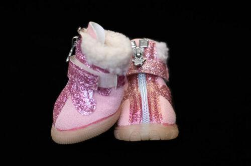 Pink Fur Lined Winter Booties