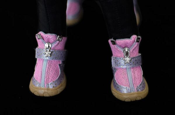 Pink Starlight Mesh Booties