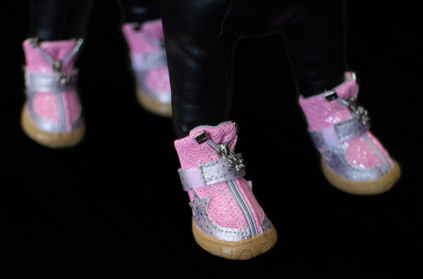 Pink Starlight Mesh Booties