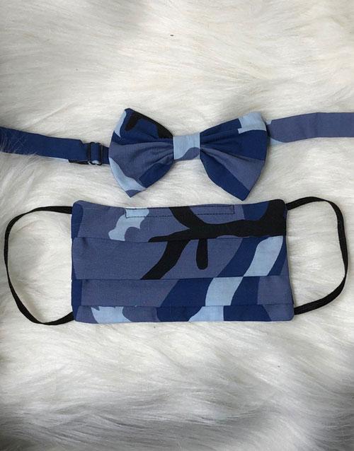 Blue Camouflage Face Mask