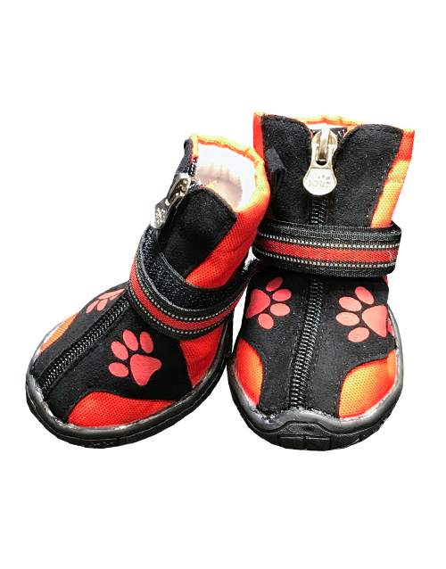 big dog boots red paw print