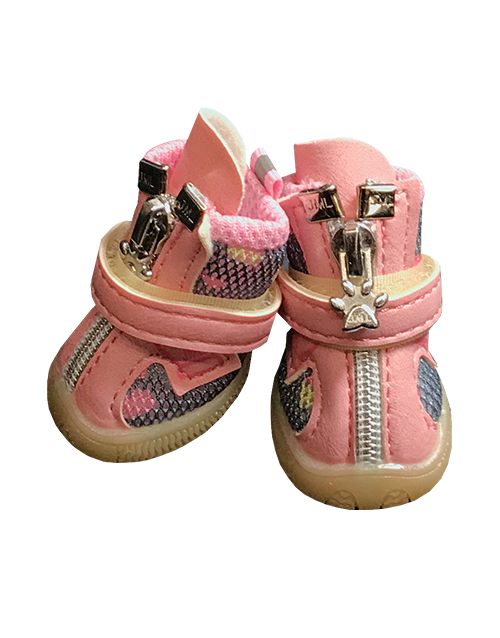 Dog Booties Pink Camo