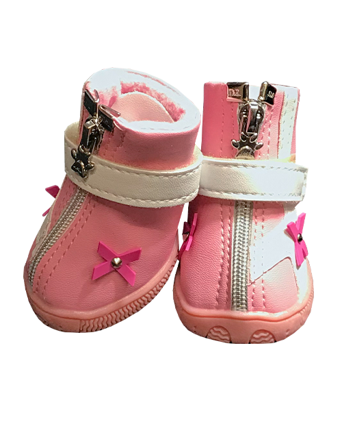 Breast Cancer Awareness Dog Boots