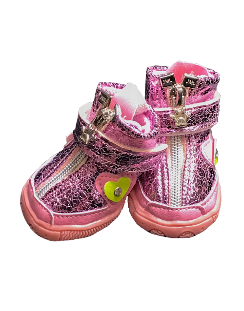 Pink Dog Boots