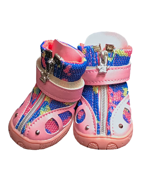 Camo Dog booties pink
