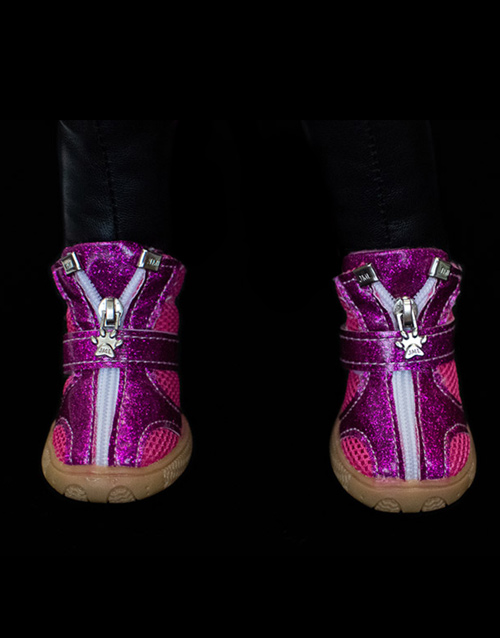 Pink Purple dog boots