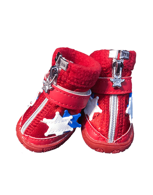 Red dog boots