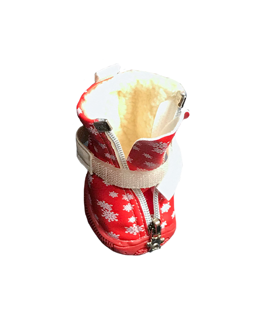 Dog Booties Winter Red