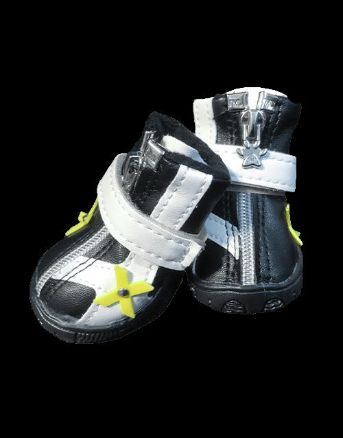 Yellow Black Dog Shoes