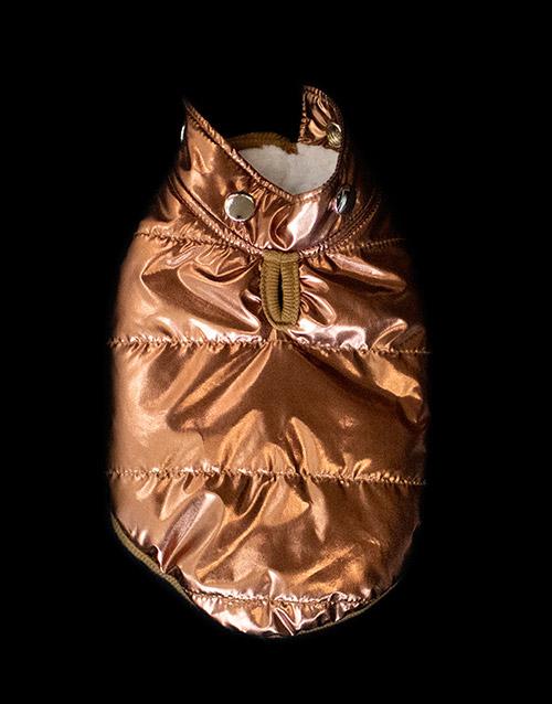 winter copper dog coat removable hood