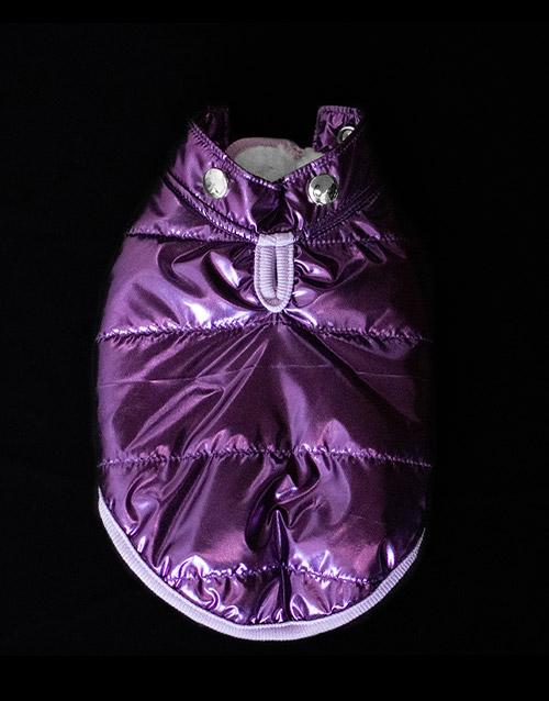 purple metallic dog coat