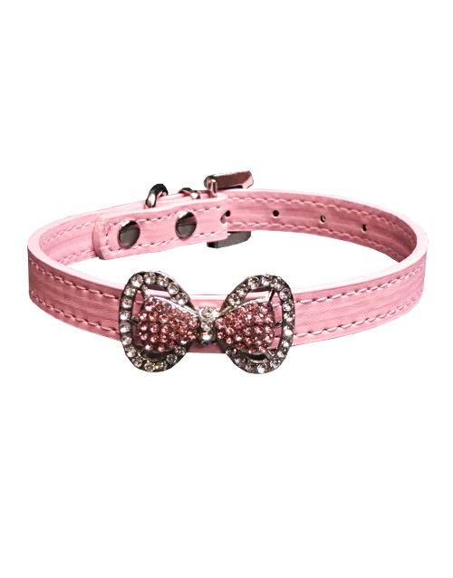 studded dog collar with rhinestones