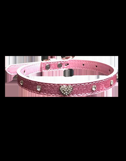 pink studded collar