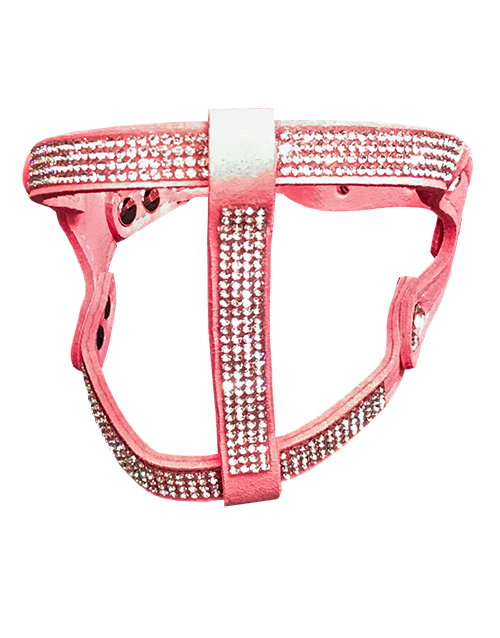 Pink diamond dog harness