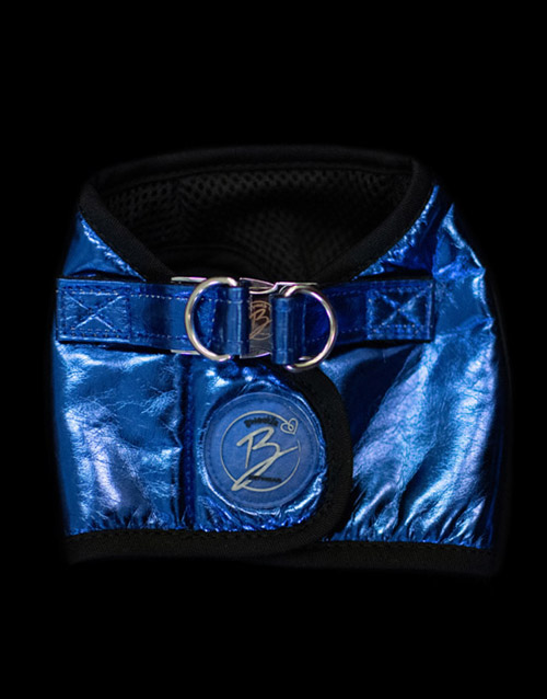 Metallic Blue Dog Harness
