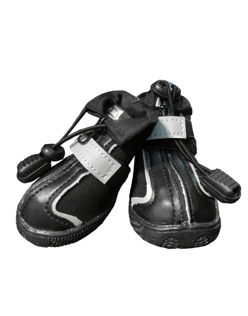 Black Waterproof Dog Shoes