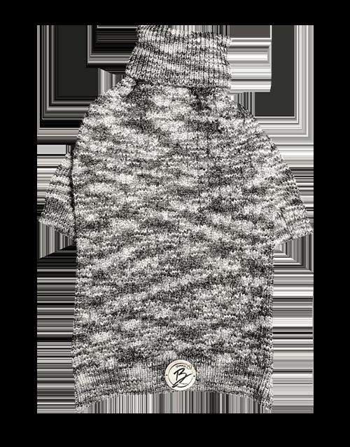 Grey marled dog sweater